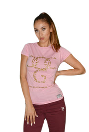 Womens Pink/Gold OG Paisley T Shirt