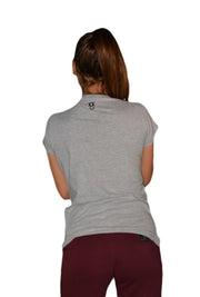 Womens Grey/Black Empower T Shirt