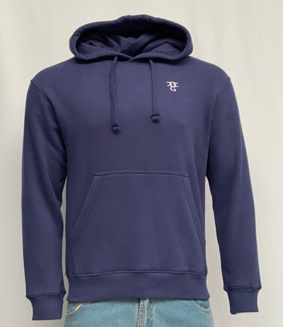 Hooded Pullover Blue Top