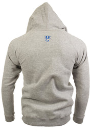 Mens Killuminati Heather Grey / Blue Print Pullover Hooded Top