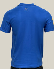Men's Omar Guevara Ralph Freedom Fighter Blue polo shirt £27.99