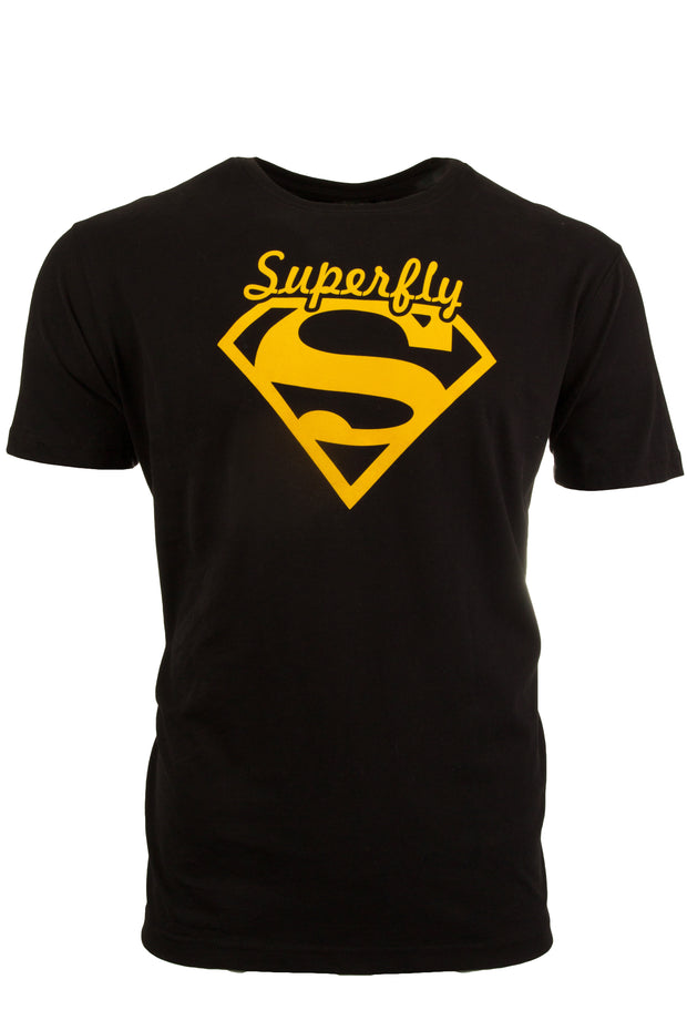 Mens Black / Yellow Superfly T Shirt