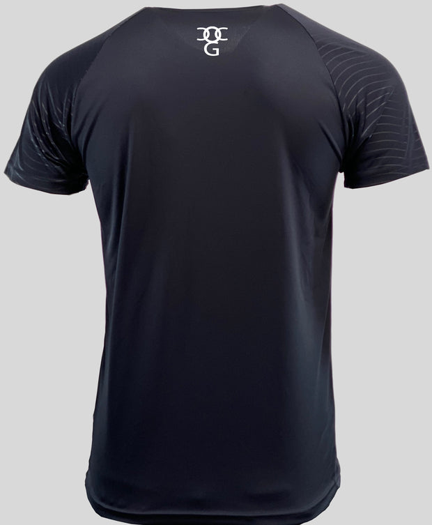Mens O.G. 1 Sports Two Tone Lycra Dark Blue T Shirt