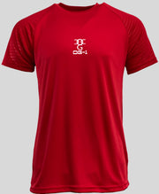 Mens O.G. 1 Sports Two Tone Lycra Red T Shirt