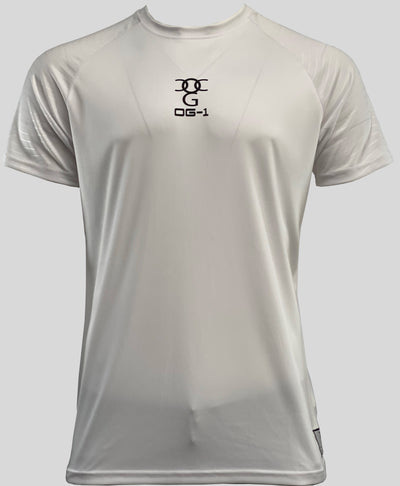 Mens O.G. 1 Sports White Lycra T Shirt