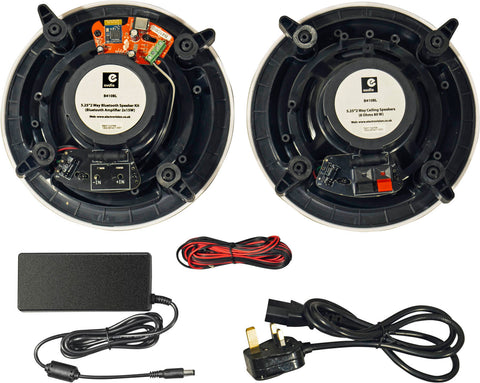 "Complete Bluetooth Stereo Ceiling Speaker Kit Master & Slave 5.25"" - k2audio"