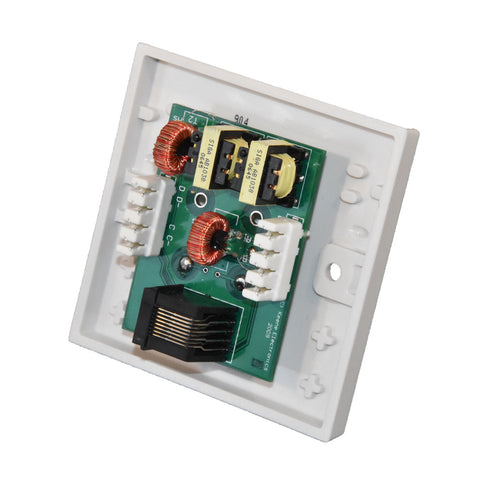 Keene Cat5Blaster Stereo Audio Wallplate Pair Send audio over CAT5 cable C5QCSP - k2audio