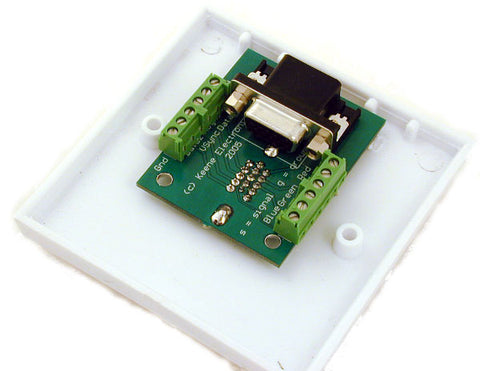 15 Pin HD VGA Wallplate With Quick Connect HCP21QC - k2audio