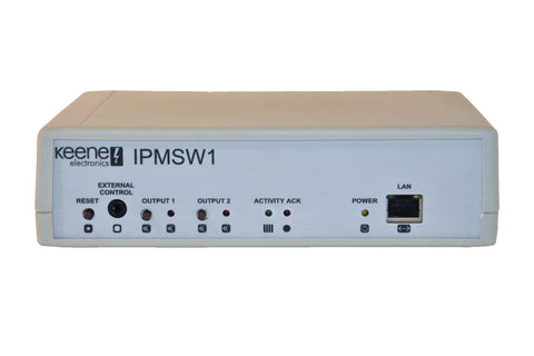 Keene Electronics Two Output IP Ethernet Mains Switch With Ping Monitoring IPMSW1 - k2audio