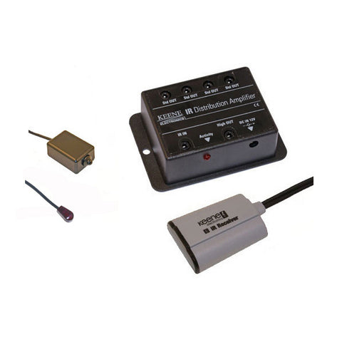 Keene IR Distribution Amp Kit (including standard IR receiver & high power IR emitter) IRBKITSH - k2audio