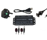IR Distribution Amplifier Kit Pro4 Including Black Panel Mount Receiver IRPKIT4B2 - k2audio
