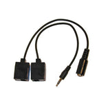 3.5mm Stereo Jack Plug / Socket To CAT Adaptors For IR Cable Extension KA175 - k2audio