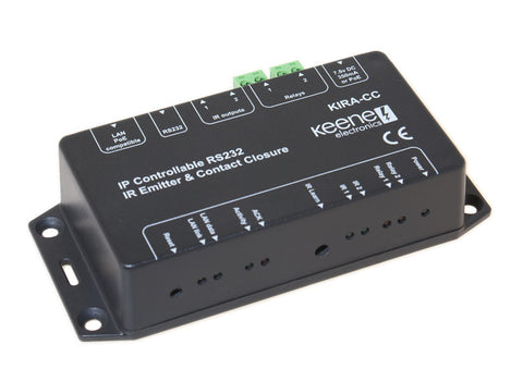 Keene IR Anywhere KIRA-CC IP Controllable Contact Closure Relay Module With IR & RS232
