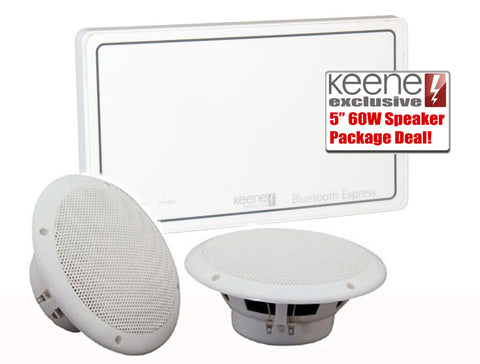 Keene KLABXB 20w Bluetooth Express In Wall Amplifier kit Including PSU And Free pair of Loudspeakers - k2audio