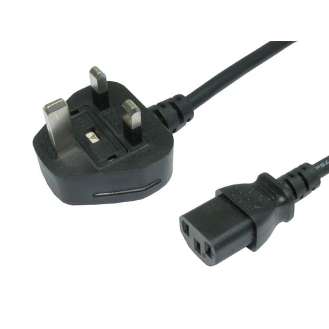 5a UK Mains Plug T0 3 Pin IEC Euro Cable 1.8m KLDM1 - k2audio