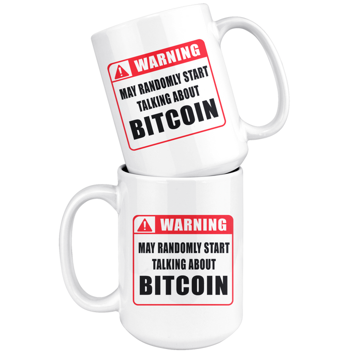 warning bitcoin mug