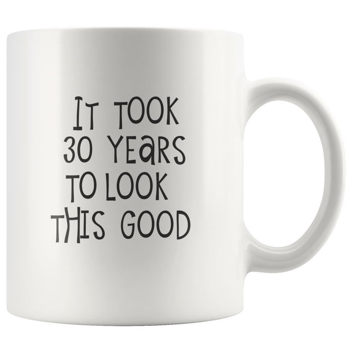 30th Birthday Gifts – 11oz Ceramic 30th Birthday Mug – Funny 30th Birthday Gifts for Women & Men – Great Wife 30th Birthday Gift Ideas