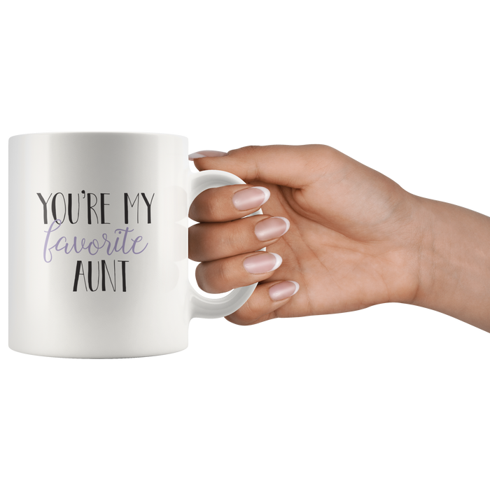 Funny Aunt Mug 11oz Ceramic – Auntie Gifts, My Aunt Gifts, Best Aunt Gifts, Cool Aunt Gift – Perfect Aunt Birthday Gift – Gift Aunt