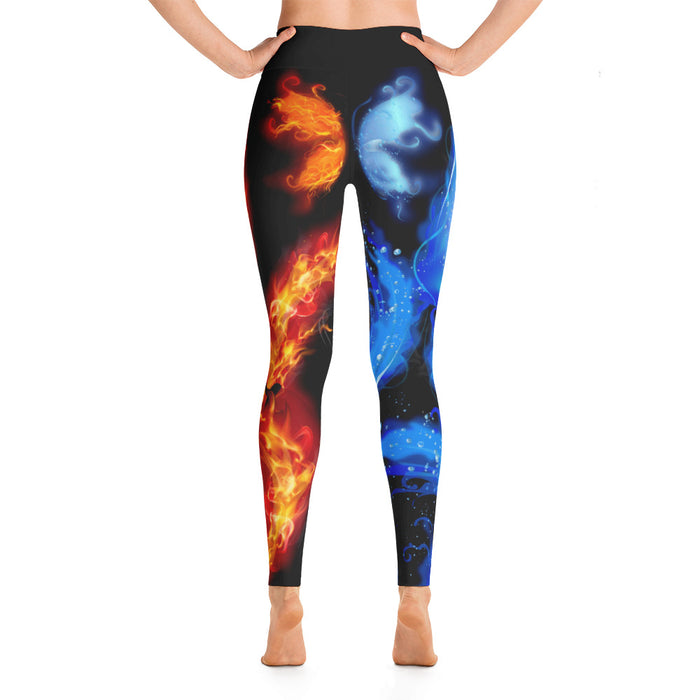 Sleek Fire and Ice Yoga Leggings