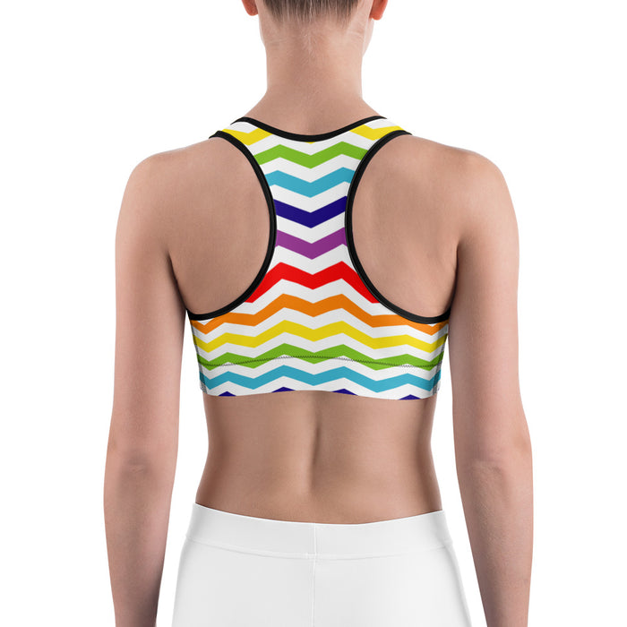 Cute Rainbow Pattern Sports Bra