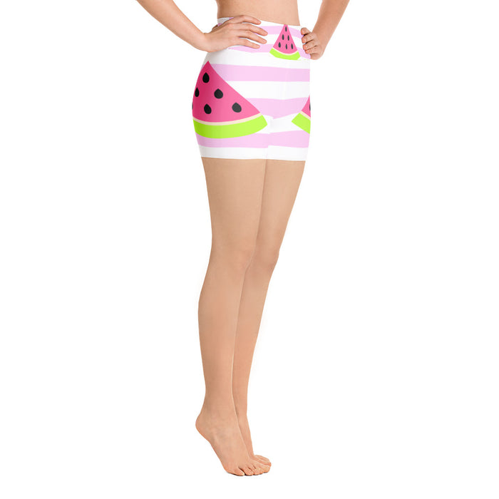 Cute Watermelon Yoga Shorts