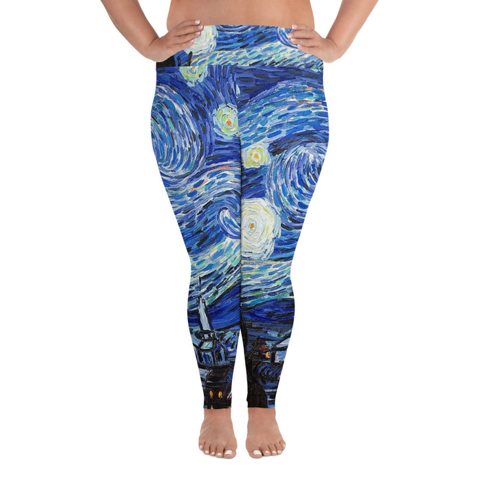 Starry Night Plus Size Yoga Leggings (up to 6XL ) - Cool XL Leggings - Women's Plus Sized Yoga Leggings – Plus Size Workout Pants – Plus Sized Gym Leggings