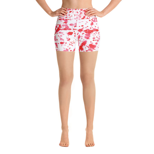 Red Spatter Yoga Shorts