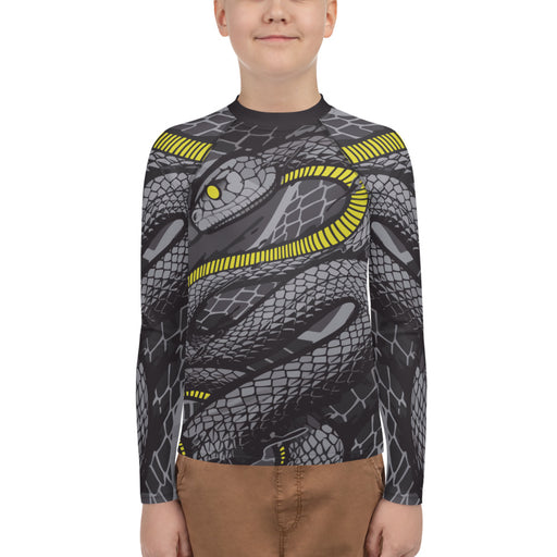 Cool Snake Youth jiu jitsu rash guard - jiu jitsu rash guard kids - kids rash guard boys bjj - kids bjj rash guard - kids rash guard bjj