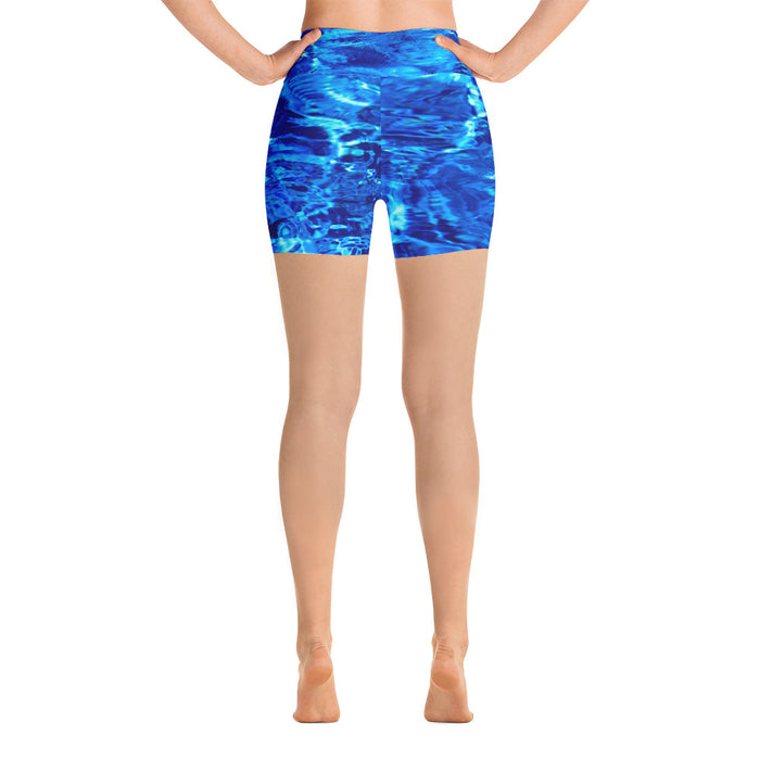 Water Look Yoga Shorts