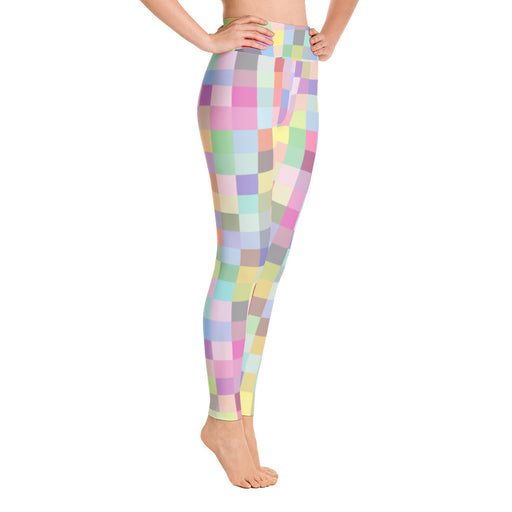 Cute Color Squares Yoga Leggings
