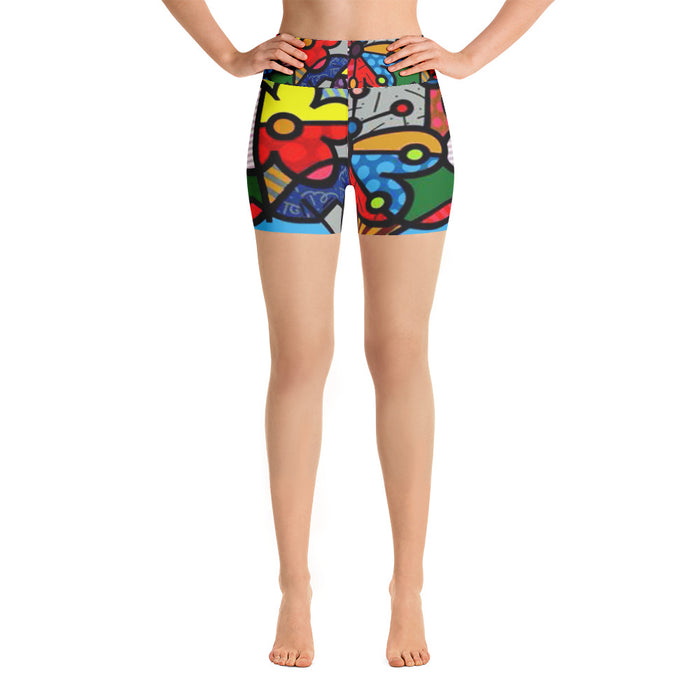 Cute Art Yoga Shorts