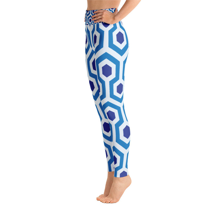 Blue Pentograms Yoga Leggings