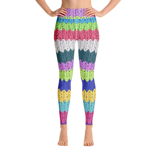 Wool Knit Print Yoga Leggings