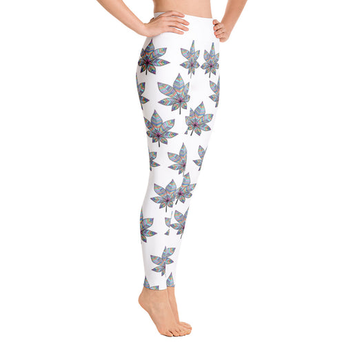 Original Art Mandala Yoga Leggings by Meli