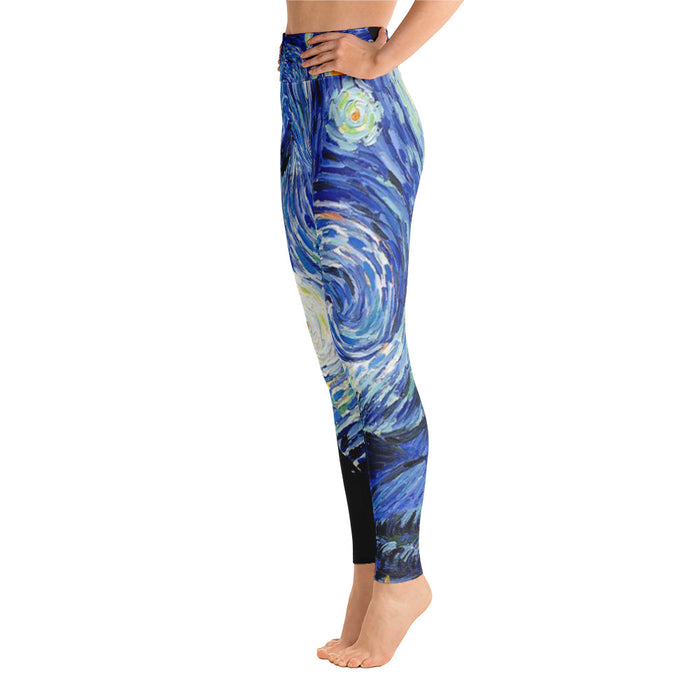 Starry Night Classic Art Yoga Leggings