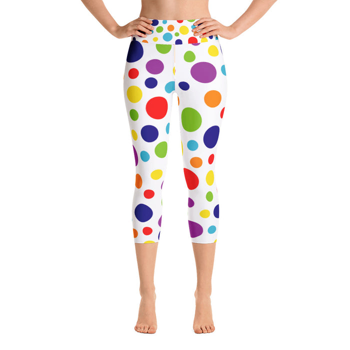 Spotty Rainbow Yoga Capri Leggings