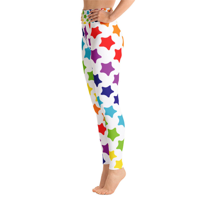 Cute Rainbow Pattern Yoga Leggings