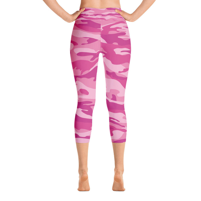 Pink Camo Yoga Capri Leggings