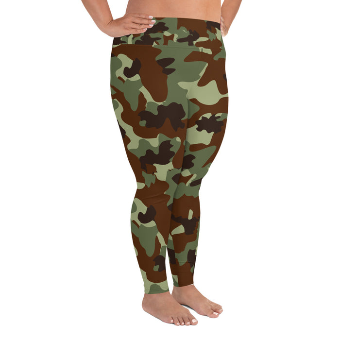 Classic Military Camo Plus Size Yoga Leggings (up to 6XL ) - Cool XL Leggings - Women's Plus Sized Yoga Leggings – Plus Size Workout Pants – Plus Sized Gym Leggings