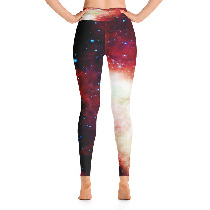 Cute Space Theme Yoga Leggings (Design 9)