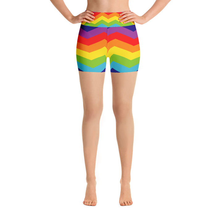 Cute Rainbow Yoga Shorts