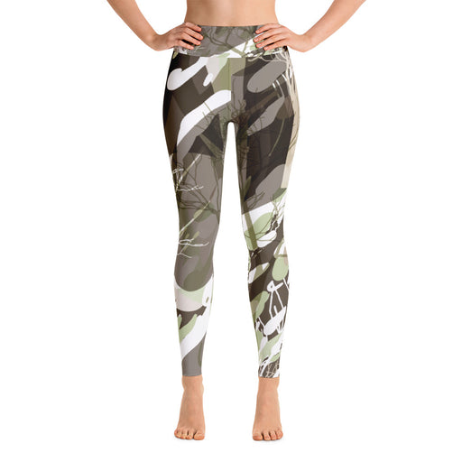 Black Grey Color Splash Yoga Leggings