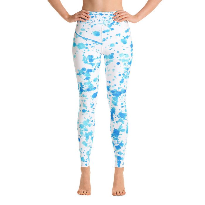 Light Blue Spatter Yoga Leggings
