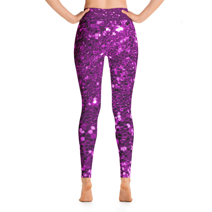 Pink Glitter Patter 2 Yoga Leggings