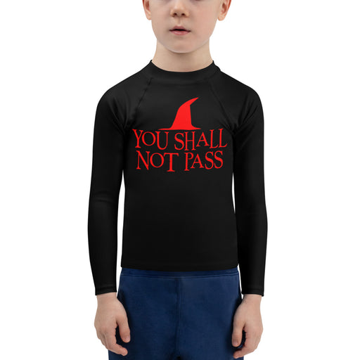 You Shall Not PAss Guard kids jiu jitsu rash guard - jiu jitsu rash guard kids - kids rash guard boys bjj - kids bjj rash guard - kids rash guard bjj - Rashie