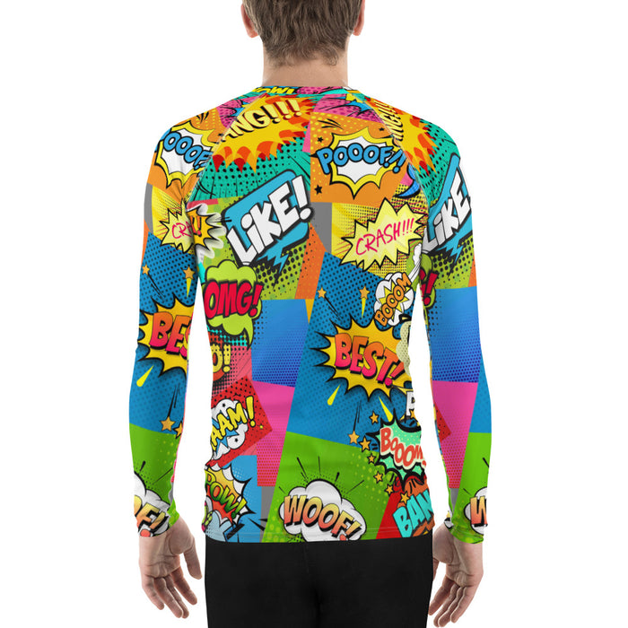 Men's Rash GuardCool Comic Book Rash Guard - Made in the US Men's Comic Rash Guard (for Bjj, Judo and More)
