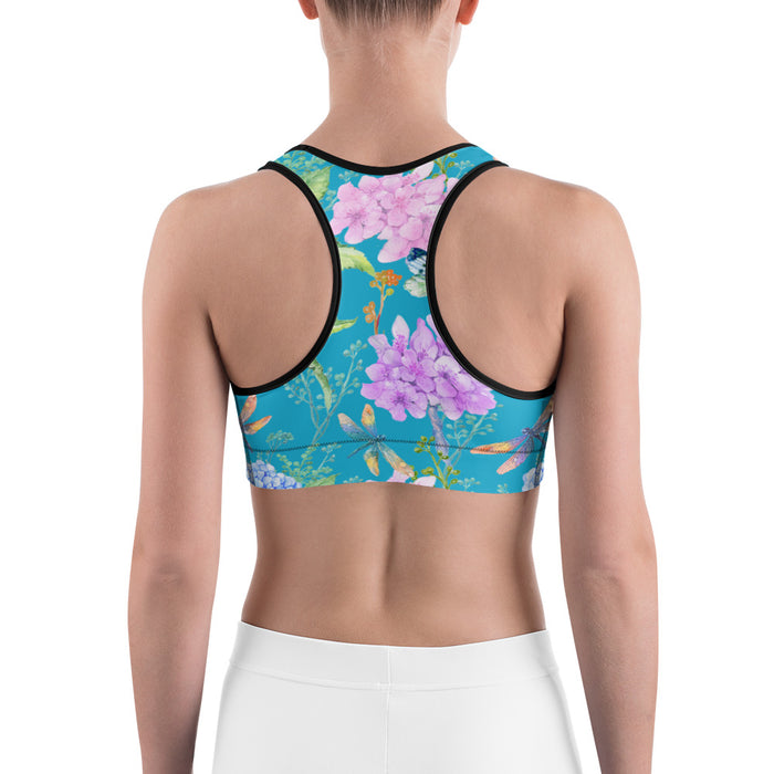 Birds and Flowers Sports Bra