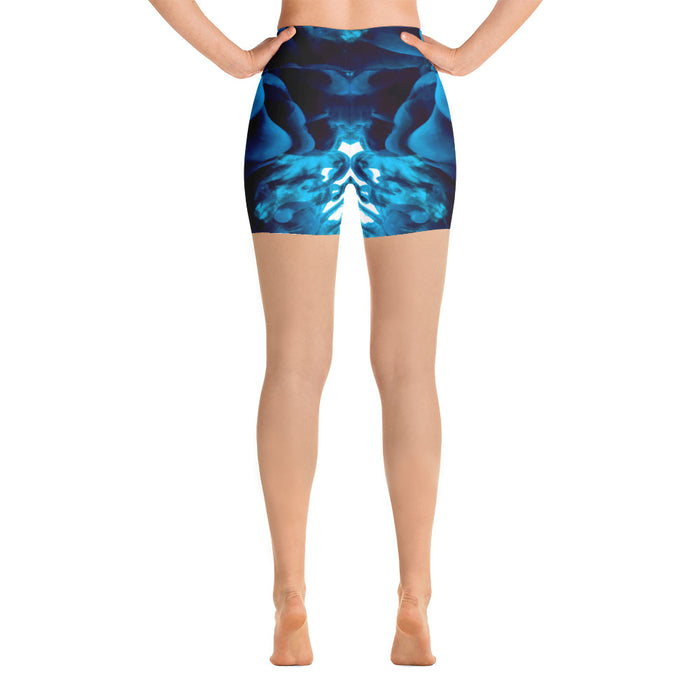 Ink Water Effect Yoga Shorts