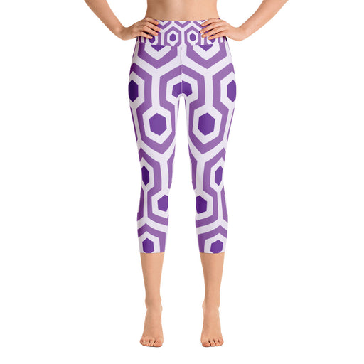 Purple Pentogram Yoga Capri Leggings