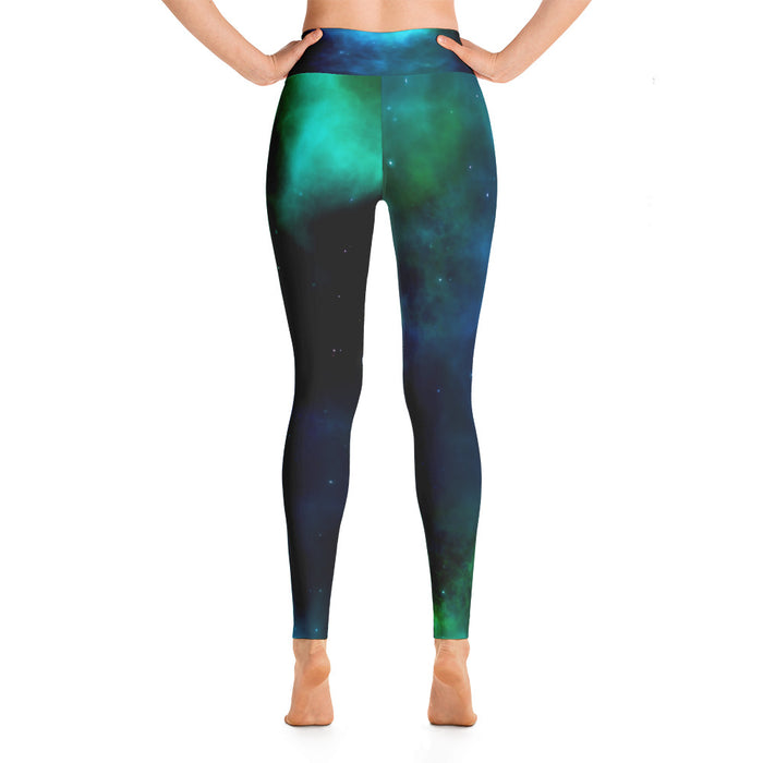 Cute Sapce Theme Yoga Leggings (Design 6)